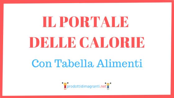 il portale delle calorie