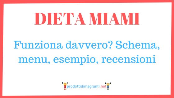 Dieta Miami funziona davvero? Schema, menu, esempio, recensioni