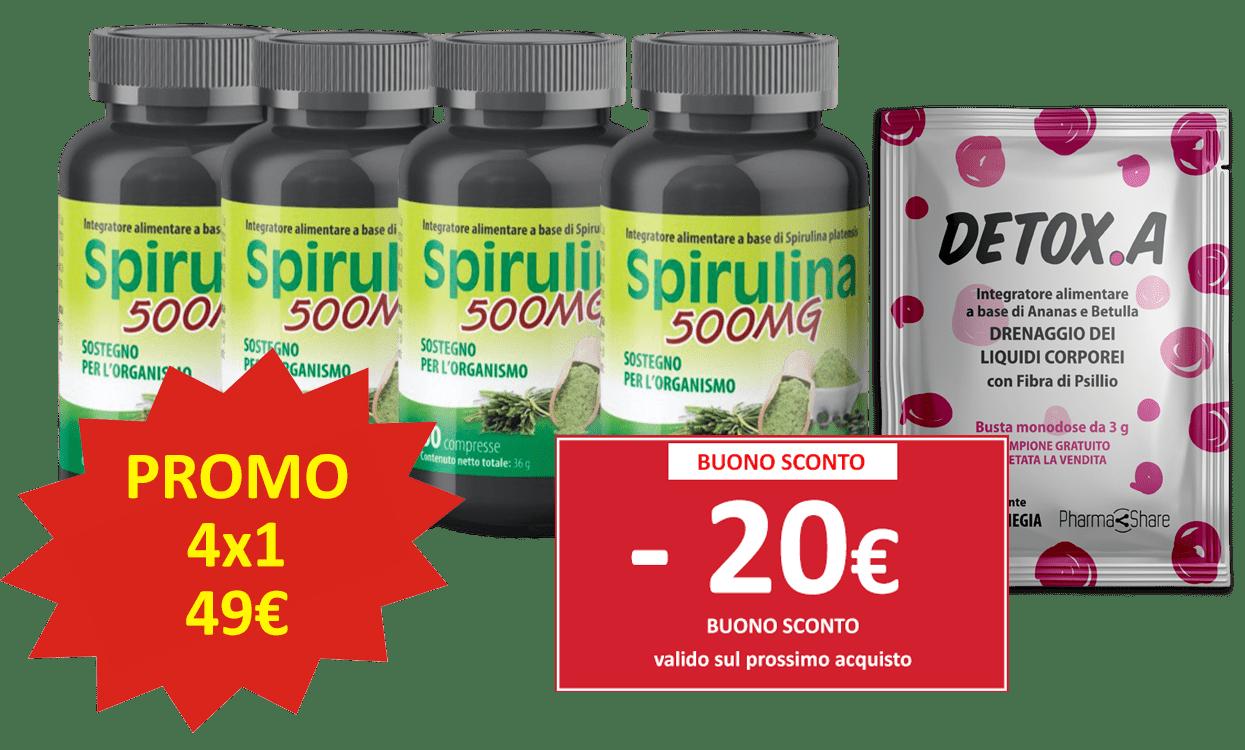 Spirulina 500 mg detox.a