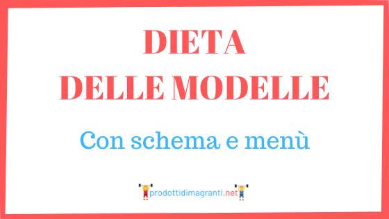 Dieta delle modelle