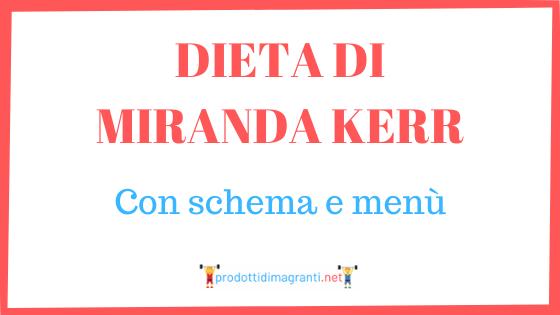 dieta di Miranda Kerr